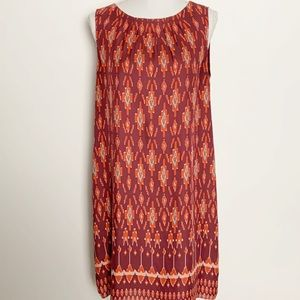FOSSIL-Sleeveless Shift Midi Dress. Size Medium